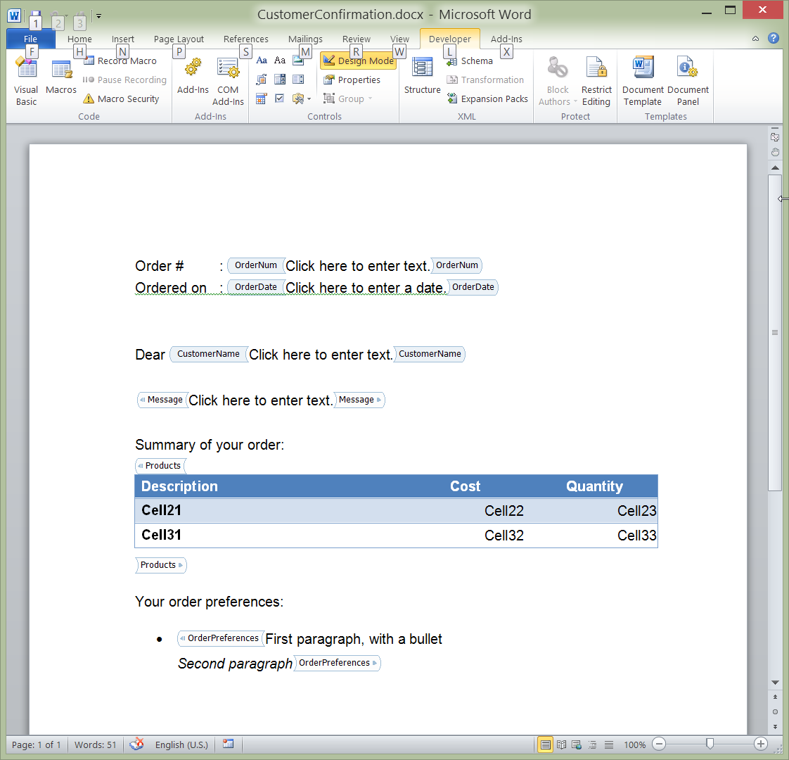 Docx (MS Word) Library